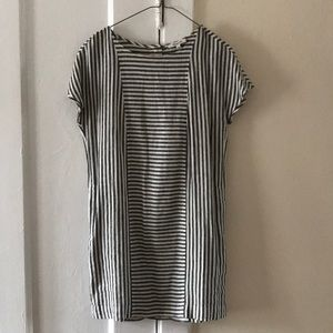 Madewell Striped Back-Button Dress